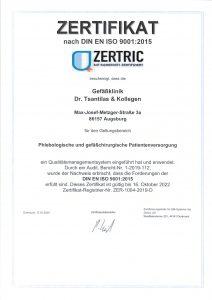 ISO-Certificate-2022 Vascular Clinic Tsantilas